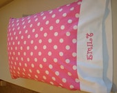 Personalized For FREE Kids Polka Dot Standard Size Pillowcase