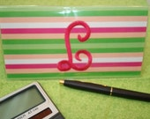 Monogrammed Checkbook Covers
