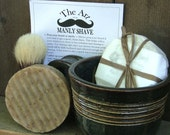 Manly Shave Gift Set with  Beer Soap