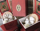 Groomsmen Shaving 4 piece set Wooden Men's Shave Set with Cigar Box