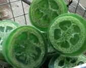 Handmade Soap Loofah Soap Juniper 3 Soaps