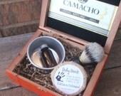 Shaving Kit, Boar Brush, Cigar Box, Beer Soap, Shave Cup