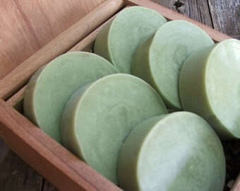 3 bars Green Tea Mint Handmade Soap Shave or Bath Bar