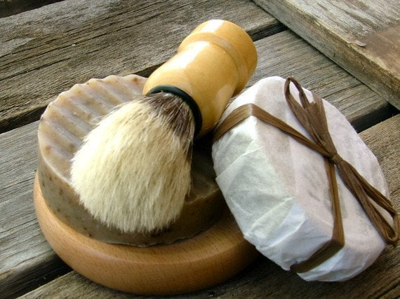 Men  Gift Shaving Kit, Shaving Set, Beer Soap, Handmade Soap