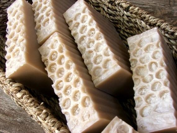 Oatmeal Milk and Honey Handmade Goatsmilk  Soap 3 Bars