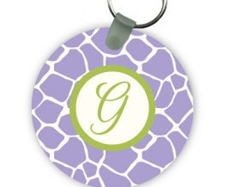 GIRAFFE keychain  with monogram