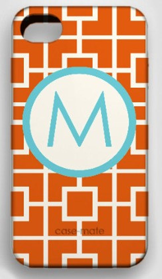 carrot squares - monogrammed snap on cell phone covers- iPhone3G-4G-Blackberry-Samsung-iPodTouch