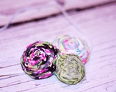 Triple rosette (fabric flower headband)