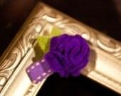 Itty Bitty Purple Flower Clip