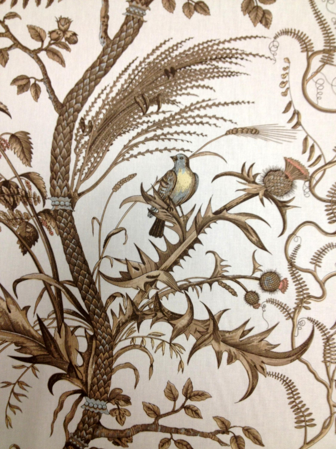 Brunschwig And Fils Bird And Thistle Fabric By