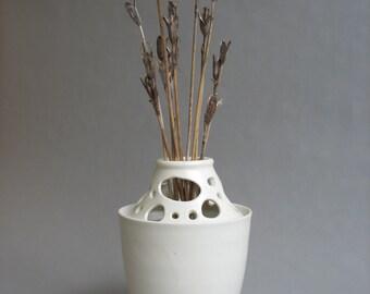 Porcelain flower block