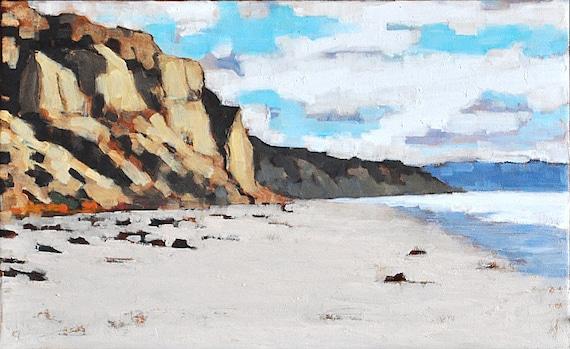 Blacks Beach Bluffs- Large Original Oil Painting