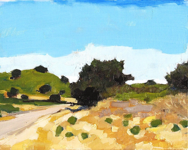 Santa Ynez Valley California Landscape Painting near Santa Barbara by Kevin Inman Art