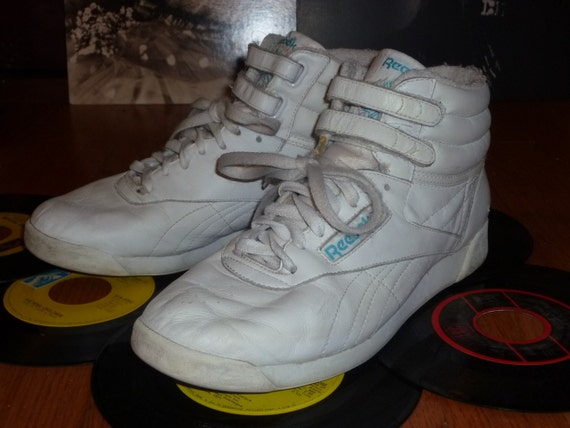 80 S Reebok High Tops White Leather By Getmodern On Etsy