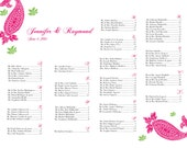 Regalia seating chart - digital file