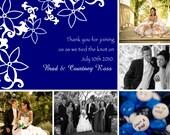 Sapphire wedding thank you card - digital file