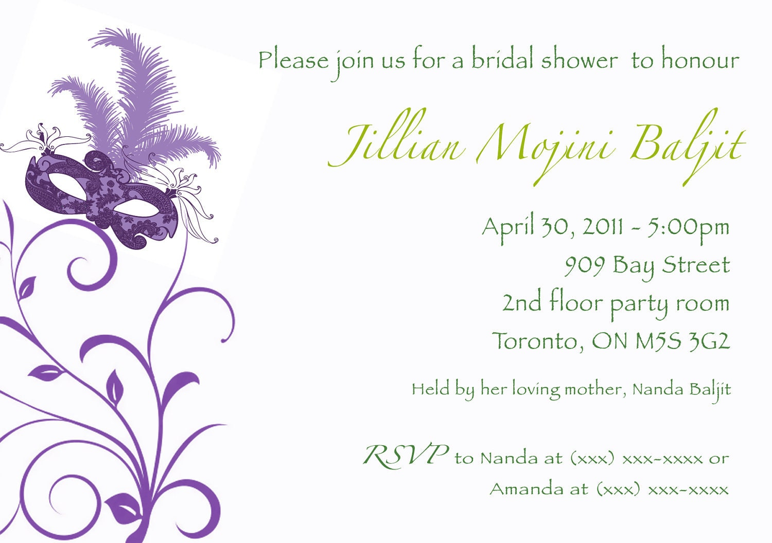 Purple Bridal Shower Invites was beautiful invitations template