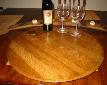 SALE* Recycled Wine Barrel Lazy Susan or Serving Tray