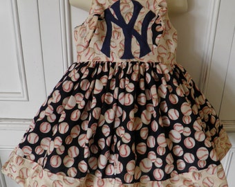 MLB NY New York Yankees Boutique Dress Size 2T 3T 4T