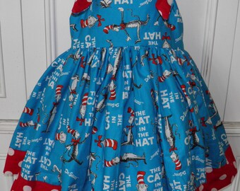 The Cat in the Hat Boutique Dress Size 2T 3T 4T 5 6
