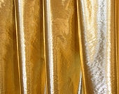 GOLD (gold warp, white weft) tissue lame' half circle dance veils