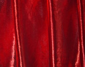 RUBY (red warp, white weft) tissue lame' half circle dance veil