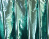 DEEP SEA FOAM (mint warp, black weft) tissue lame' half circle dance veil