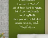 Marilyn Monroe-Vinyl Lettering wall words quotes graphics decals Art Home decor itswritteninvinyl