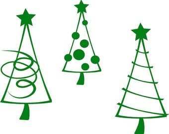 Christmas Tree Trio holiday Vinyl Lettering wall words graphics Home decor itswritteninvinyl