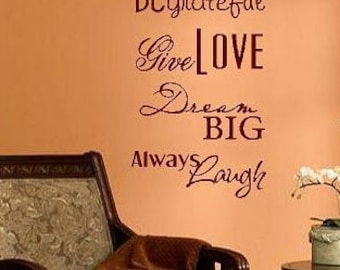 Live simply -Vinyl Lettering wall words graphics Home decor itswritteninvinyl