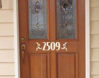 Custom  door house numbers  -Vinyl Lettering wall words graphics Home decor itswritteninvinyl