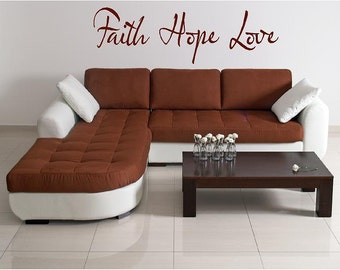 Faith Hope Love-Vinyl Lettering wall words graphics Home decor itswritteninvinyl