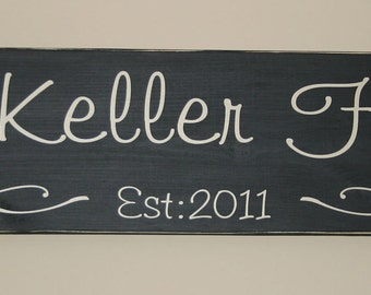 Hand Painted Personalized Family Established Wood Sign Vinyl Lettering Wall Words Graphics Home Decor Itswritteninvinyl