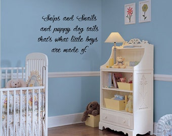 Snips and Snails Nursery Rhymes Vinyl Lettering wall words graphics  decals  Art Home decor itswritteninvinyl