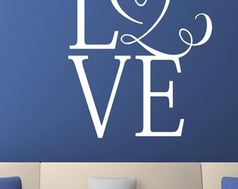 LOVE  -Vinyl Lettering wall words graphics Home decor itswritteninvinyl