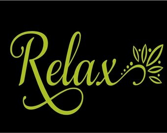Relax  Bathroom-Vinyl Lettering wall words graphics  decals  Art Home decor itswritteninvinyl