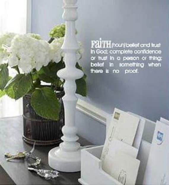 Faith definition- Vinyl decal-Vinyl Lettering wall words graphics Home decor itswritteninvinyl