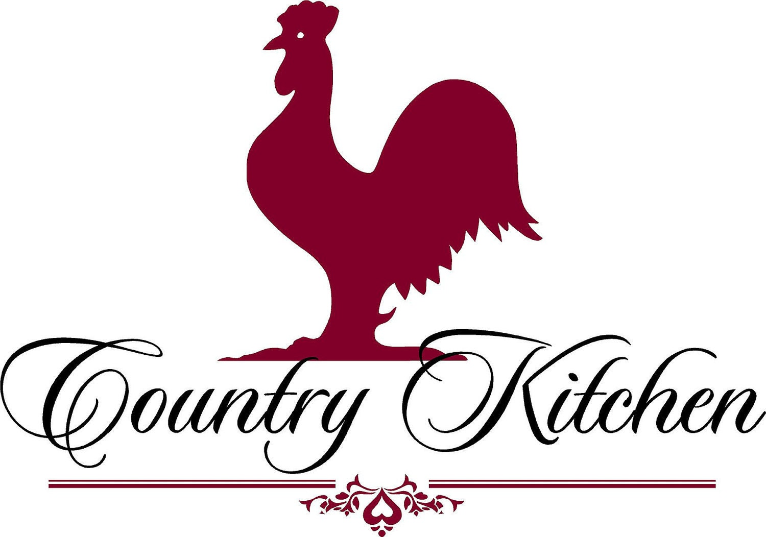 Rooster Quotes And Sayings: Country Kitchen Rooster Vinyl Lettering Wall Words Quotes