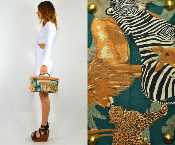 reseved--novelty SAFARI giraff lion tiger ANIMAL overnight BAG