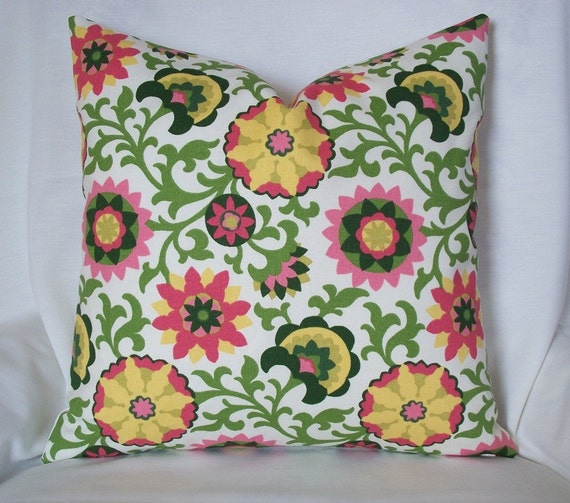 SALE Designer pillow cover Waverly Decorative 18x18 throw
