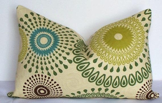 SALE  Decorative pillow cover 12 x 16 Matelasse suzani lumbar designer throw pillow teal - green - kiwi - slate blue -  brown