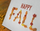Fall Leaves Letterpress Card