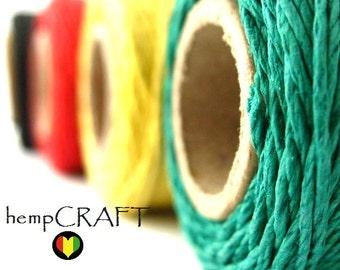 Rasta Hemp Cord, 4 Spool Deal, 1mm Hemp Craft Twine