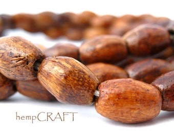 Wood Beads, Dark Brown, Oval 8x11mm