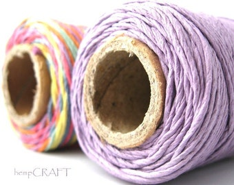 Hemp Beading Twine, You Choose 2 Colors, 1mm Hemp Craft Cord