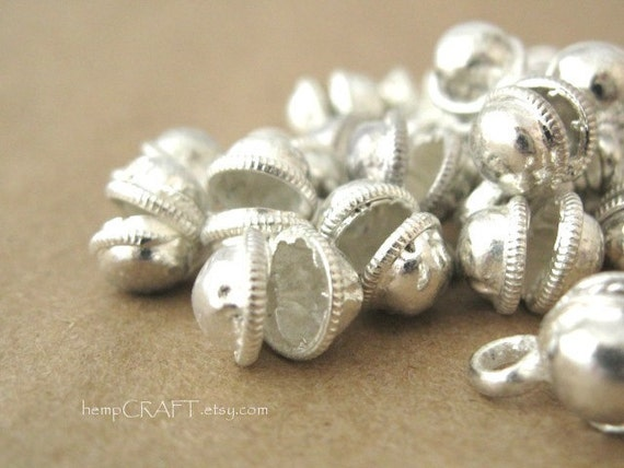 50pc Jingle Bells, Silver Gypsy Dancing Bells, Fairy Bells 7mm