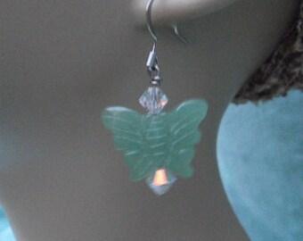 Butterfly Aventurine Earrings