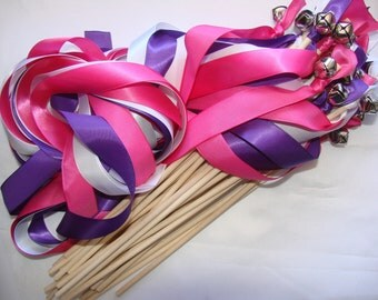 100 Wedding Wands: Triple Ribbon with Bells