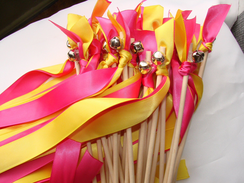 Wendy 39 s wedding wands wood choose colors fall handmade for Wedding wands