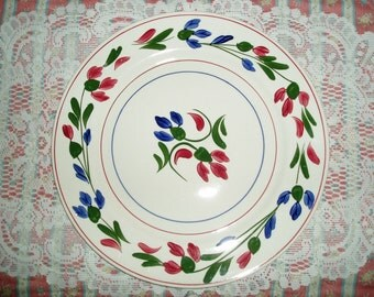 "Blue Ridge Pottery ""Pricilla"" Dinner Plate"